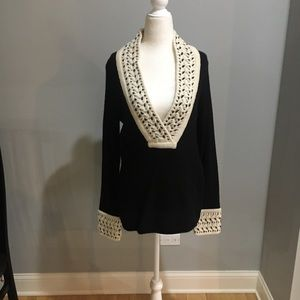 Tory Burch cashmere Bernice Tunic sweater